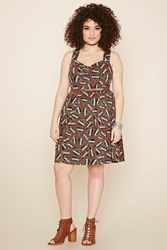 Forever 21 Plus Size Tribal Print Dress