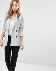 Y.A.S Palermo Double Breasted Blazer Grey