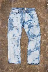 Forever 21 Distressed Bleach Dye Jeans