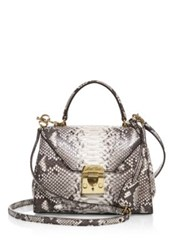 Mark Cross Hadley Baby Python Satchel Natural