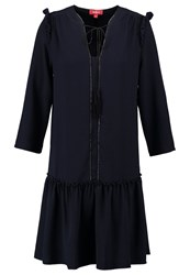 Derhy Genou Summer Dress Marine Dark Blue