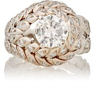 Mahnaz Collection Vintage Women's White Diamond Ring Colorless