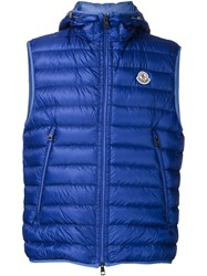 Moncler Classic Hooded Gilet Blue