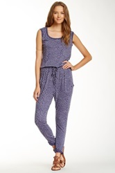 Alternative Apparel Scattered Dot Romper Blue