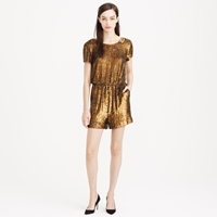 J.Crew Collection Gold Sequin Romper