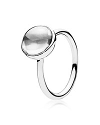 Pandora Design Pandora Ring Sterling Silver And Crystal Poetic Droplet