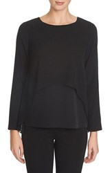 Women's 1.State Double Layer Long Sleeve Top Rich Black