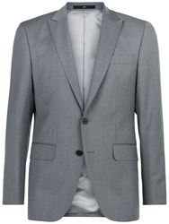 Jaeger Wool Twill Regular Fit Suit Jacket Grey