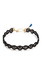 Shashi Tiffany Choker Necklace Black