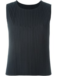 Sofie D'hoore 'Baltimore' Knife Pleated Top Black