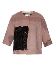 By Walid Vintage Embroidered Crochet Swing Jacket