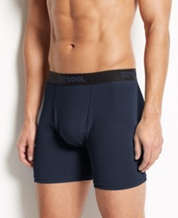 32 Degrees Cool By Weatherproof Men's Athletic Performance Boxer Briefs Navy
