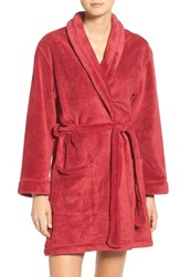 Dkny Women's Chenille Robe Red