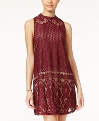 American Rag Lace Mock Neck Shift Dress Only At Macy's Zinfandel
