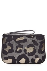 Marc By Marc Jacobs Animal Print Zip Clutch Multicolor