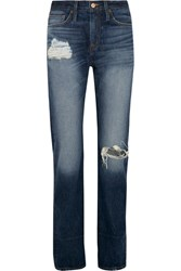 J.Crew Distressed High Rise Boyfriend Jeans Indigo