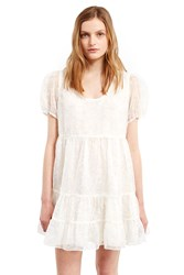 Anna Sui For Opening Ceremony Sequin Embroidered Baby Doll Dress Ivory Multi