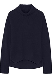 Helmut Lang Ribbed Wool And Cashmere Blend Turtleneck Sweater