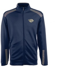 Antigua Men's Nashville Predators Flight Jacket Blue