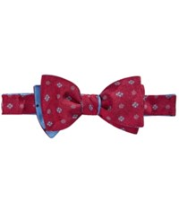 Brooks Brothers Men's Medallion And Dot Reversible To Tie Bow Tie Red