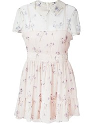 Red Valentino Printed Shirt Dress Nude And Neutrals
