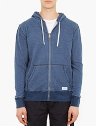 Saturdays Surf Nyc Blue Cotton Zip Up Hoodie