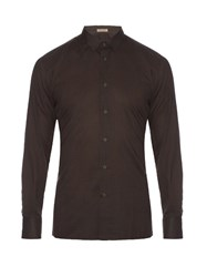 Bottega Veneta Vintage Print Cotton Shirt Brown