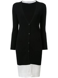 Loveless Long Ribbed Cardigan Black