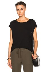 James Perse Circular Shell Top In Black