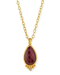 Elements 24K Constantine Ruby Pendant Necklace Gurhan Red