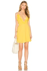 Oh My Love Frill Front Skater Dress Yellow