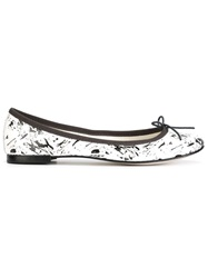 Repetto Paint Splatter Ballerinas White