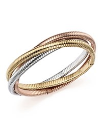 Bloomingdale's 14K Yellow White And Rose Gold Triple Tubogas Bracelet Multi