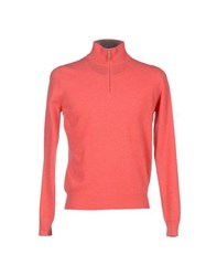Della Ciana Knitwear Turtlenecks Men Coral