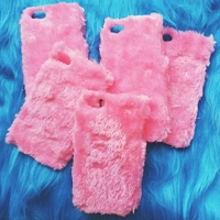 Pink Furry Iphone 4 And 5 Case By Conellicases On Etsy