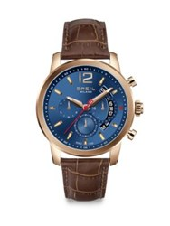 Breil Milano Rose Gold Plated Chronograph Watch Brown Blue