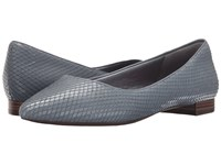 Rockport Total Motion Adelyn Ballet Icy Blue Diamond Snake Women's Dress Flat Shoes Gray