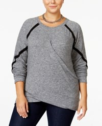Rachel Roy Curvy Trendy Plus Size Crossover Top Only At Macy's Heather Grey