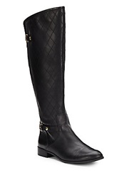 Anne Klein Kyle Quilted Riding Boots Black