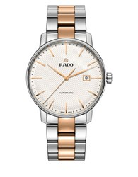 Rado Coupole Classic Stainless Steel And Rose Goldtone Ceramos Bracelet Automatic Watch Two Tone