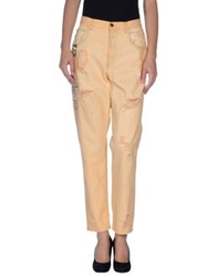 Adele Fado Denim Pants Apricot