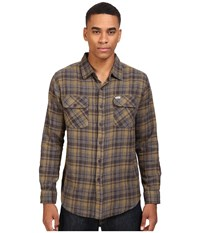Captain Fin Badger Flannel Charcoal Men's Clothing Gray