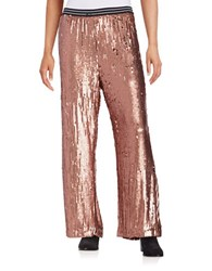 Free People Sequined Wide Leg Pants Red