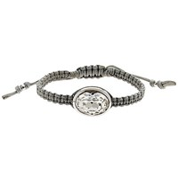 Cachet Oval Swarovski Crystal Friendship Bracelet Grey Silver