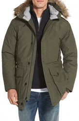 Men's Timberland 'Scar Ridge' Waterproof Down Parka With Faux Fur Trim
