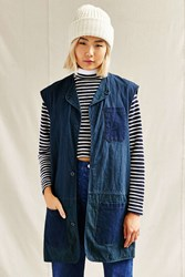 Urban Renewal Remade Patch Pocket Maxi Vest Navy