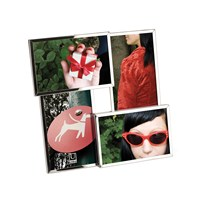 Umbra Flo Photo Frame Chrome 4 Photos