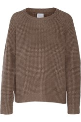 Madeleine Thompson Olive Cashmere And Wool Blend Sweater Nude