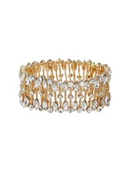 Mikey Oval Crystal Wide Elastic Bracelet N A N A