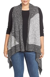 Plus Size Women's Two By Vince Camuto Knee Length Intarsia Vest